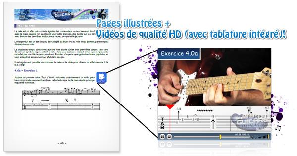 Les tablatures de guitare blues sont intégrées aux vidéos !
